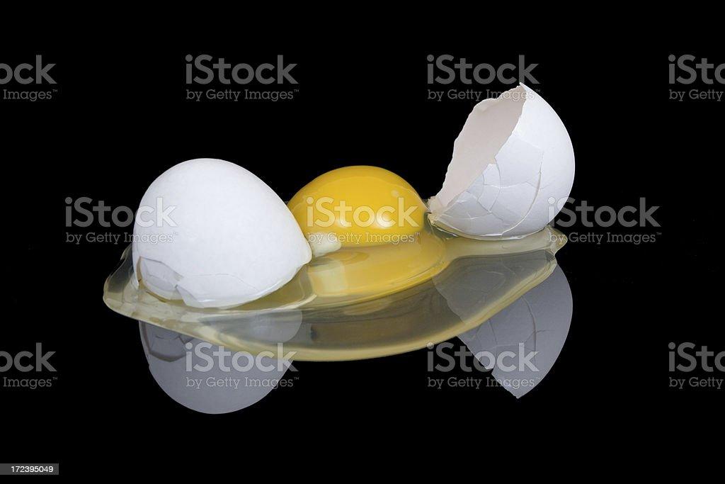 Egg on black royalty-free stock photo