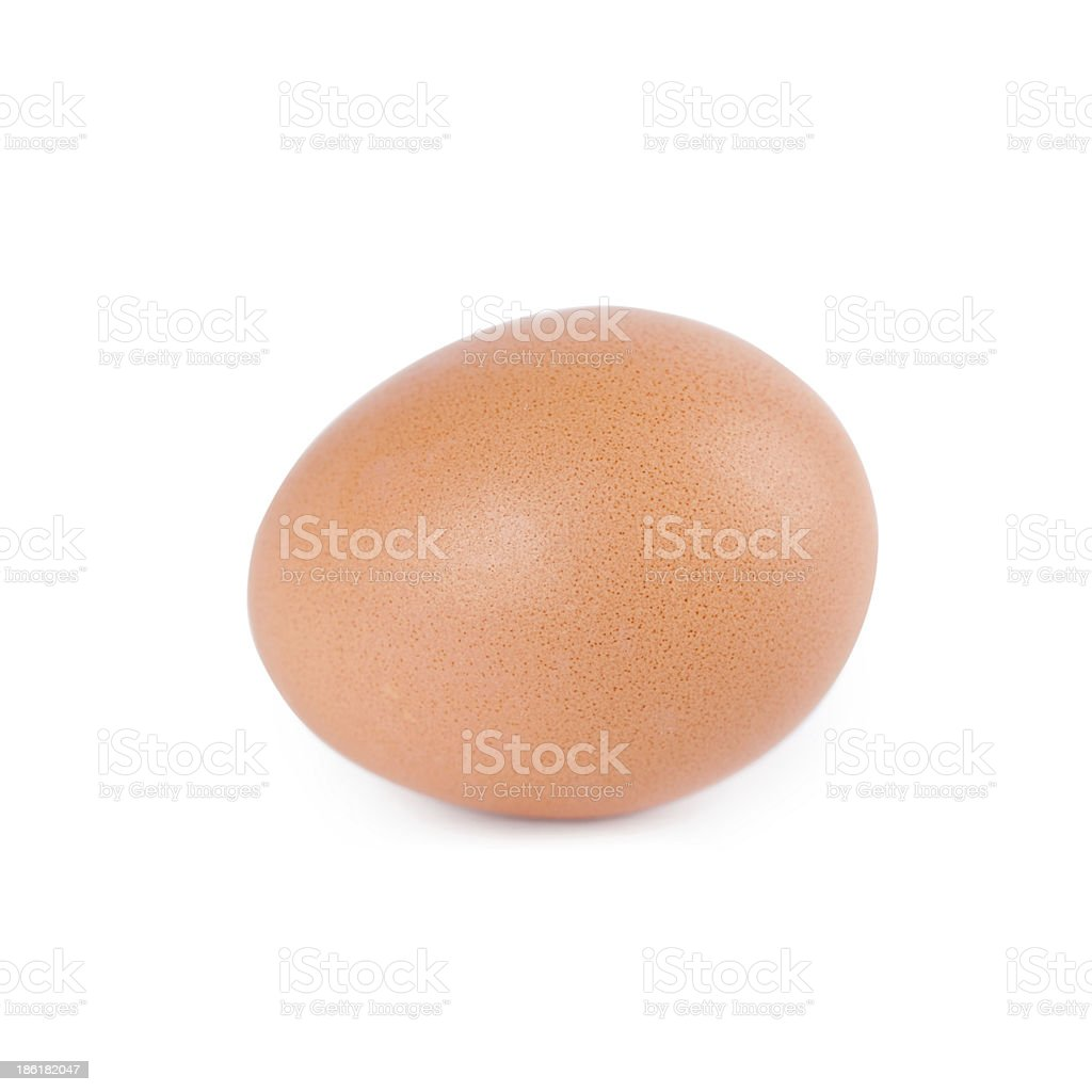 Egg on white background royalty-free stock photo