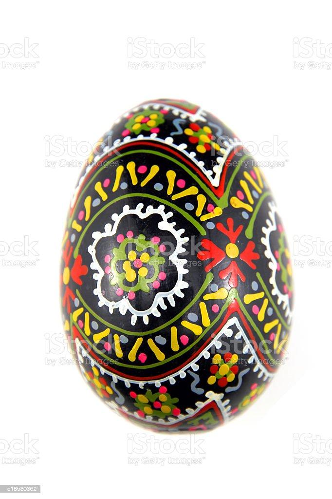 Egg on White stock photo