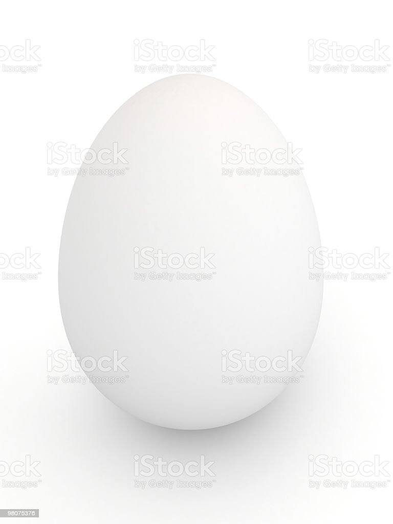 Egg over white background royalty-free stock photo
