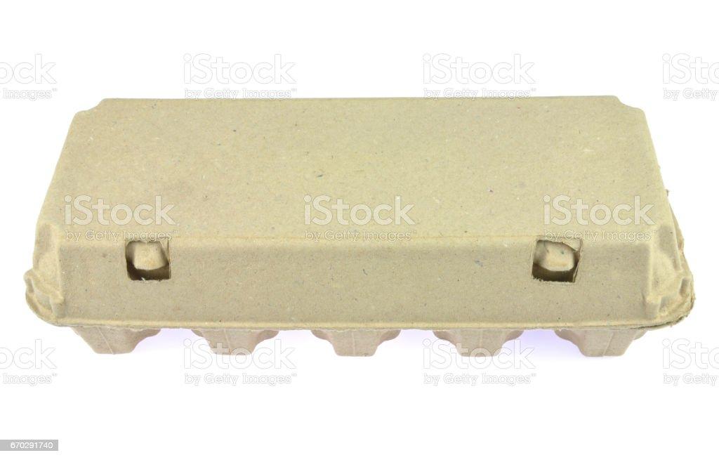 Egg paper pulp carton stock photo