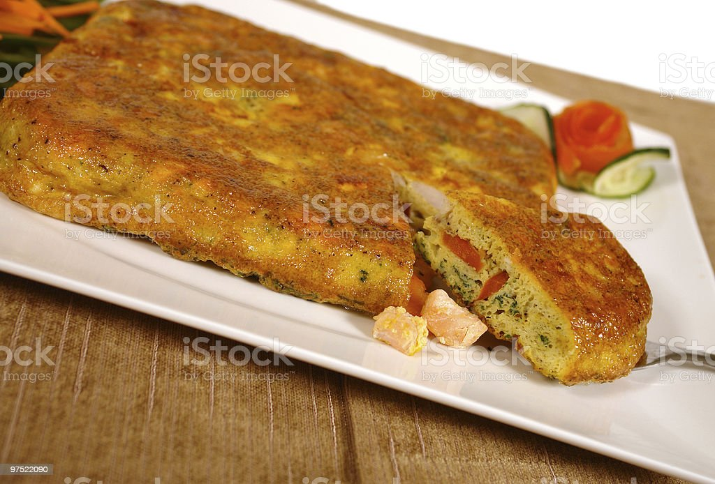 Egg quiche royalty-free stock photo