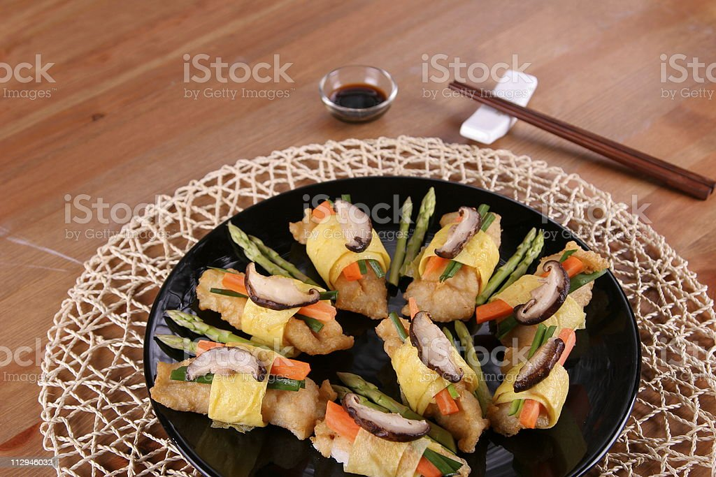 Egg Roll royalty-free stock photo
