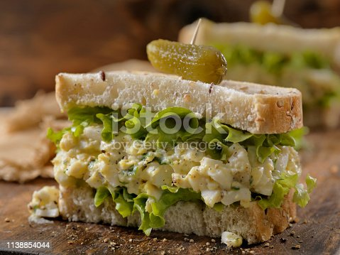 Egg Salad Sandwich with Crispy Bacon