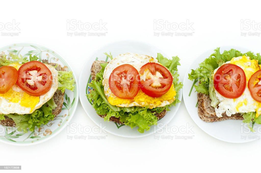 Egg sandwich royalty-free stock photo