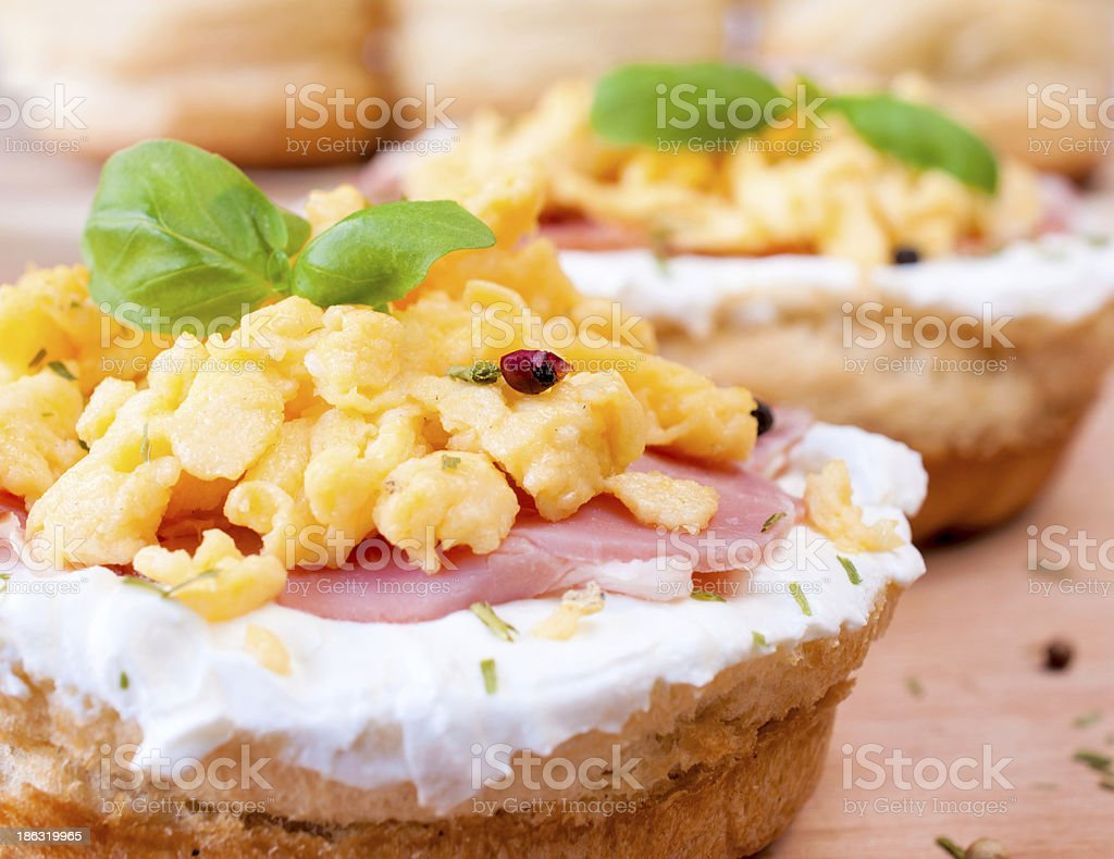 Egg sandwich royalty-free stock photo