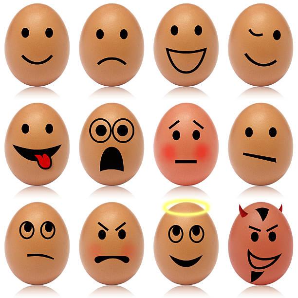 Egg smileys stock photo