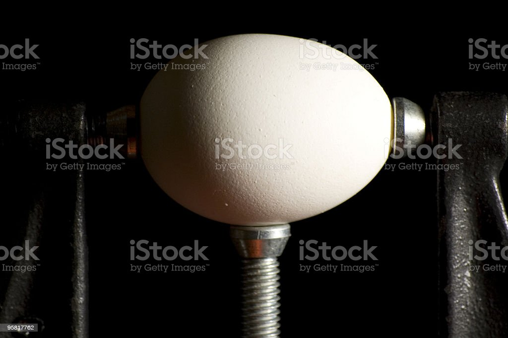 Egg Vise Closeup royalty-free stock photo