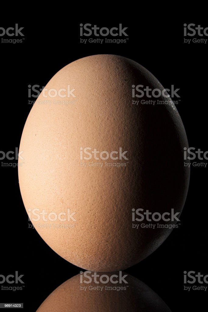 Egg with Reflex, Isolated on Black royalty-free stock photo
