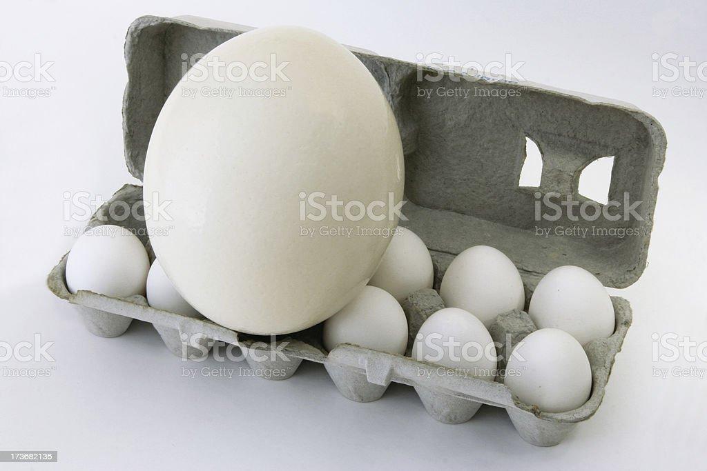 Egg-ceeding Egg-spectations stock photo