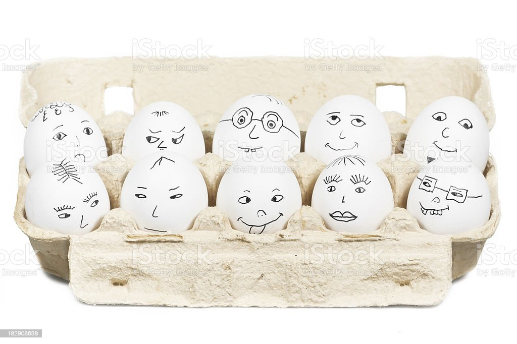 Egghead Meeting stock photo