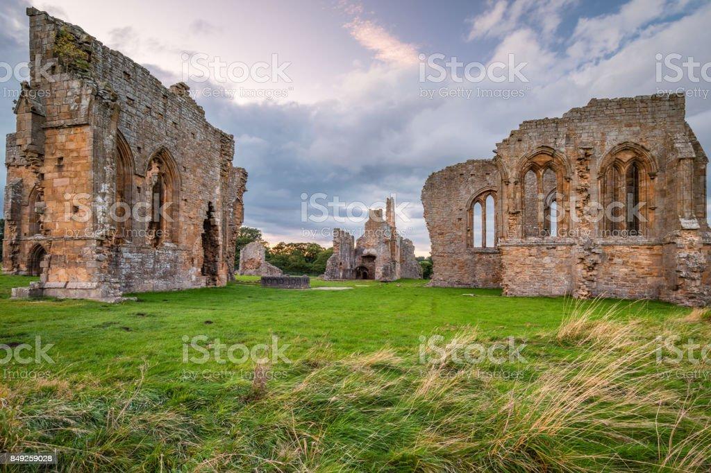 Egglestone Abbey Historic Monument stock photo