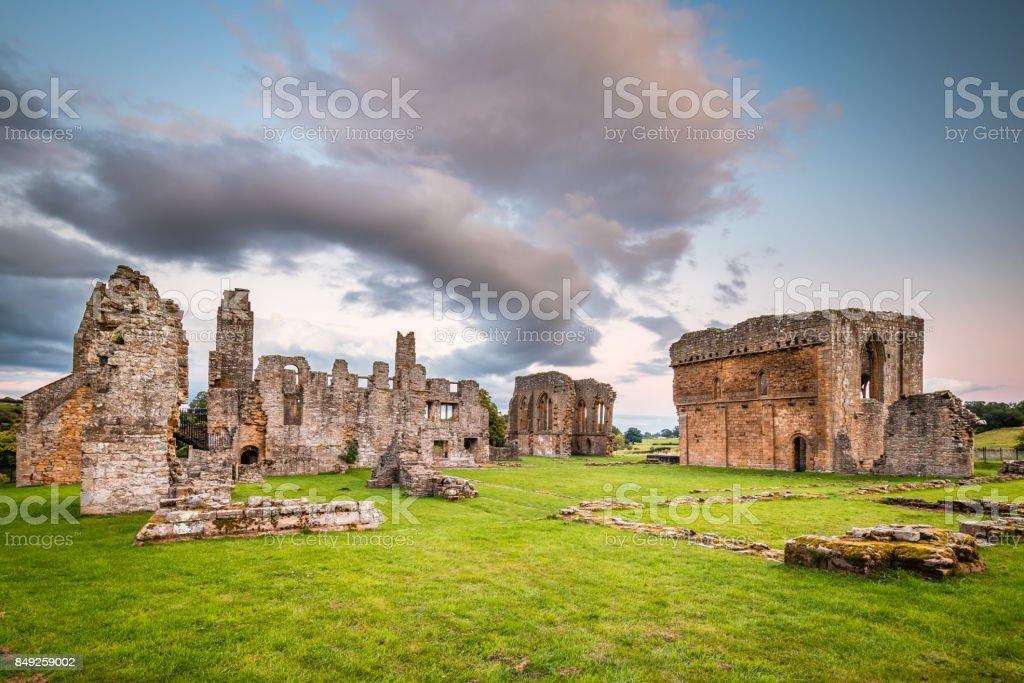 Egglestone Abbey Ruins stock photo