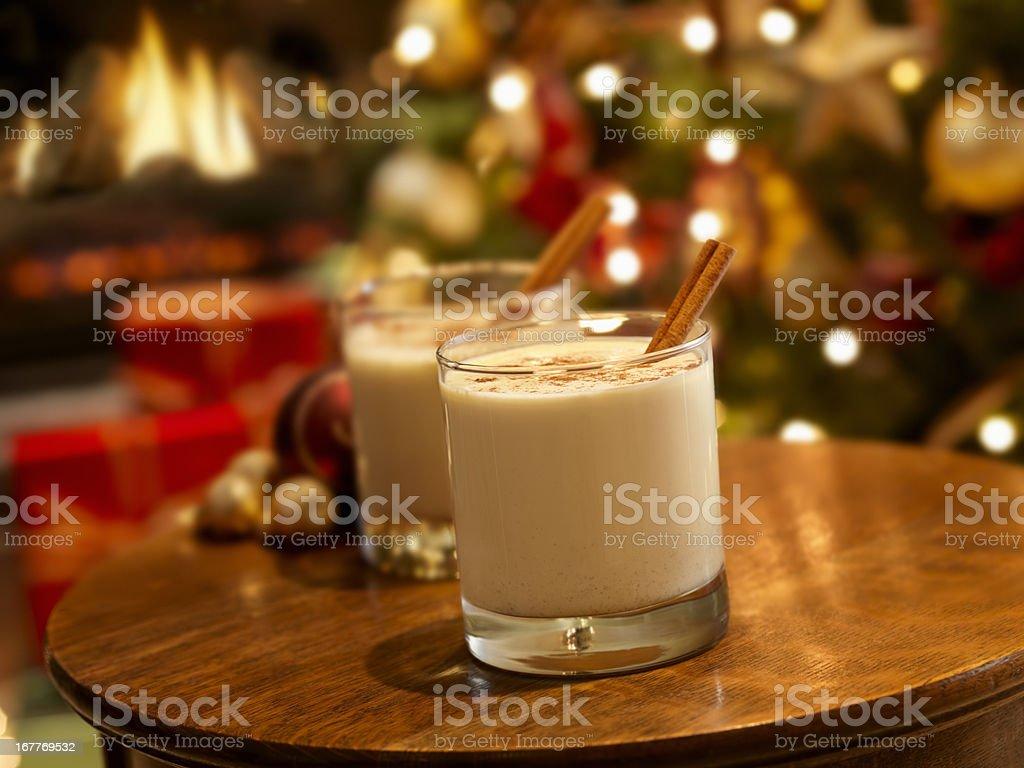 Eggnog at Christmas Time royalty-free stock photo