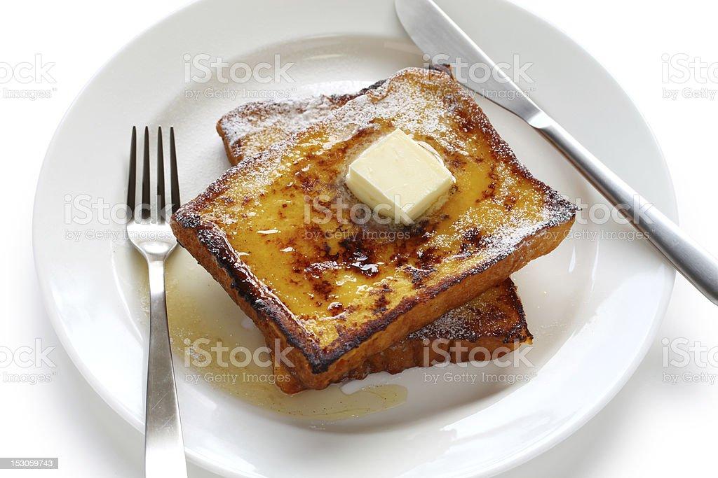 eggnog french toast royalty-free stock photo