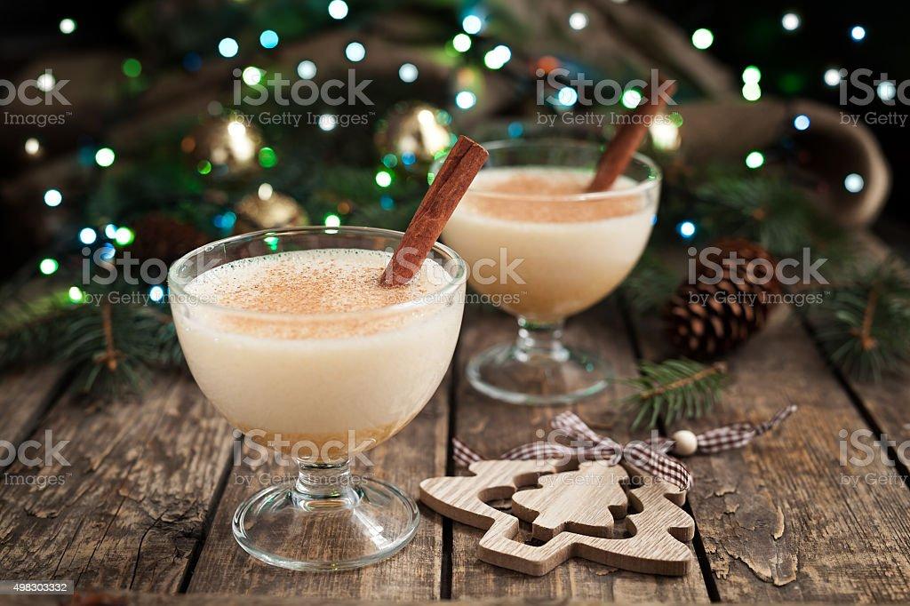 Eggnog Traditionelles Weihnachten Selbstgemachte Winter Eier Milch ...