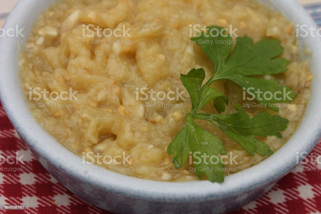Caviar d'Aubergine stock photo