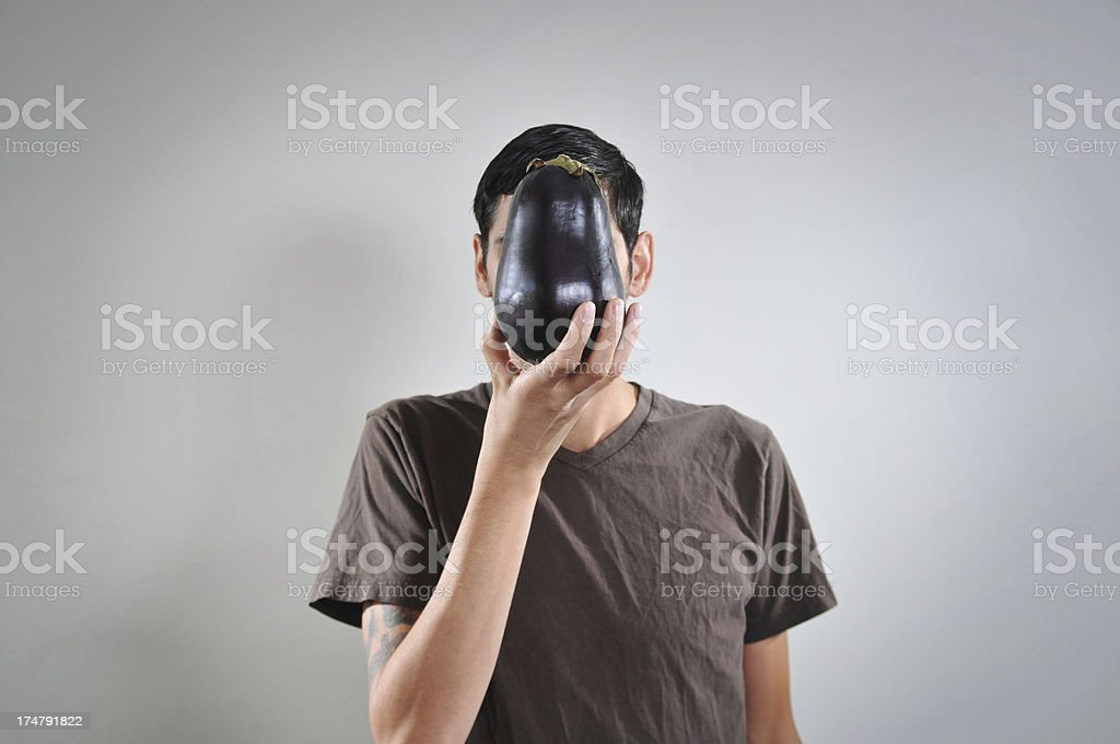 Eggplant face royalty-free stock photo