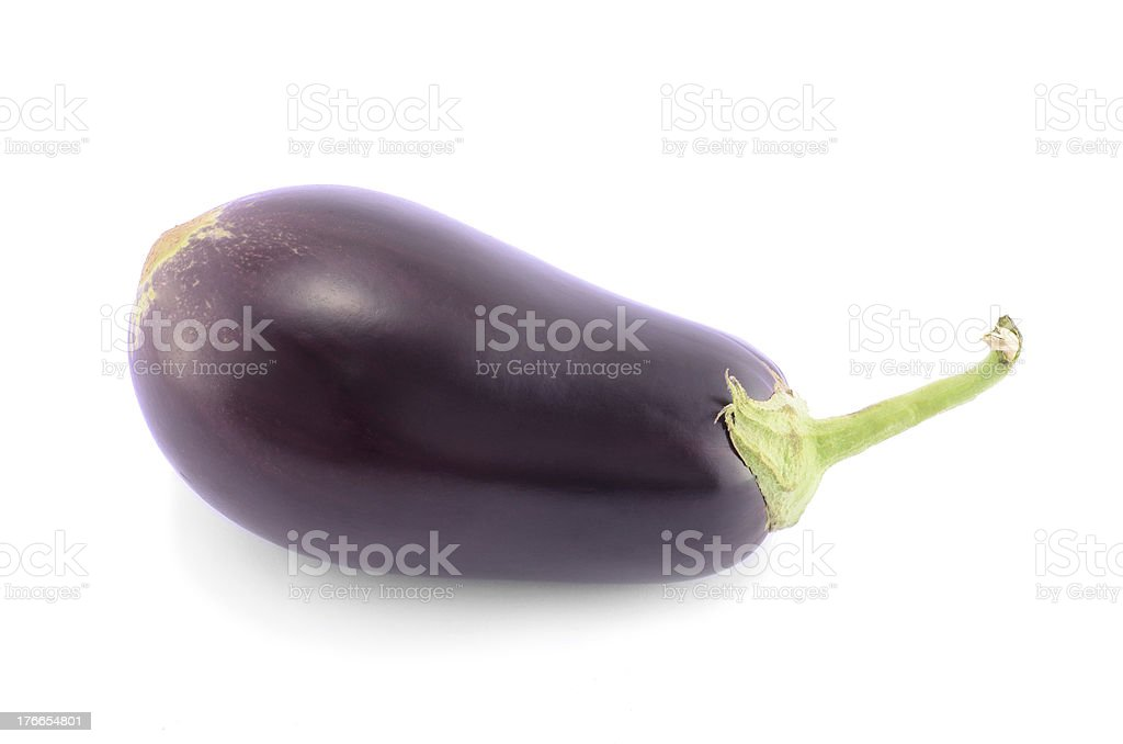 Eggplant isolated on a white background royalty-free stock photo