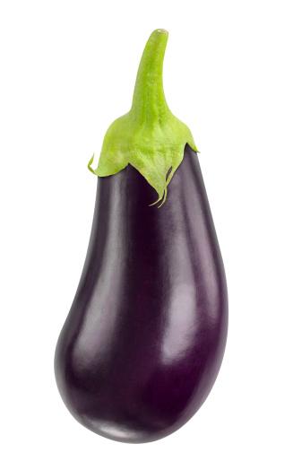 Eggplant isolated on white.