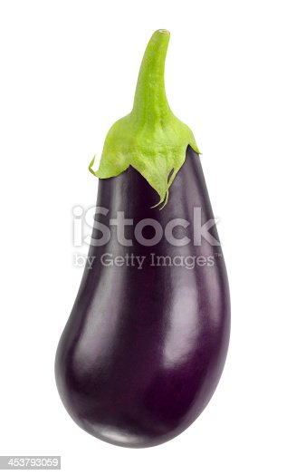 Eggplant isolated on white.