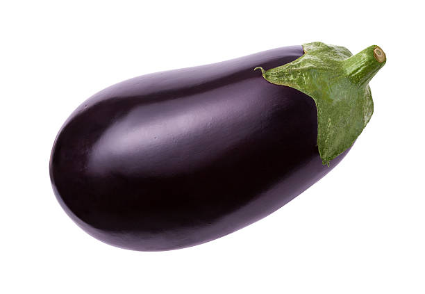 Eggplant Isolated with clipping path stock photo