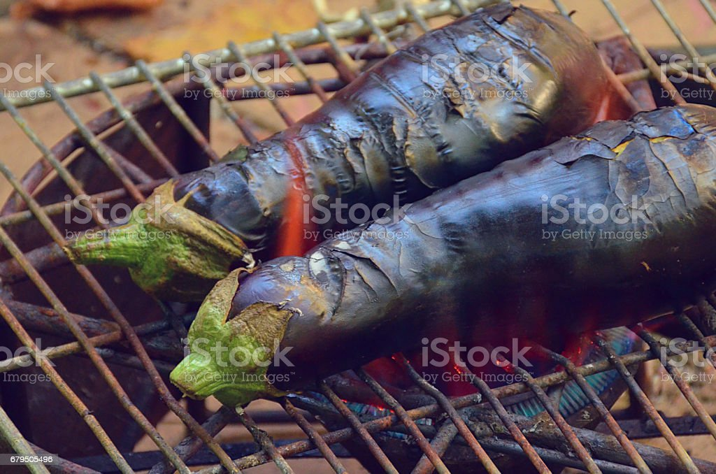 Aubergine auf grill – Foto