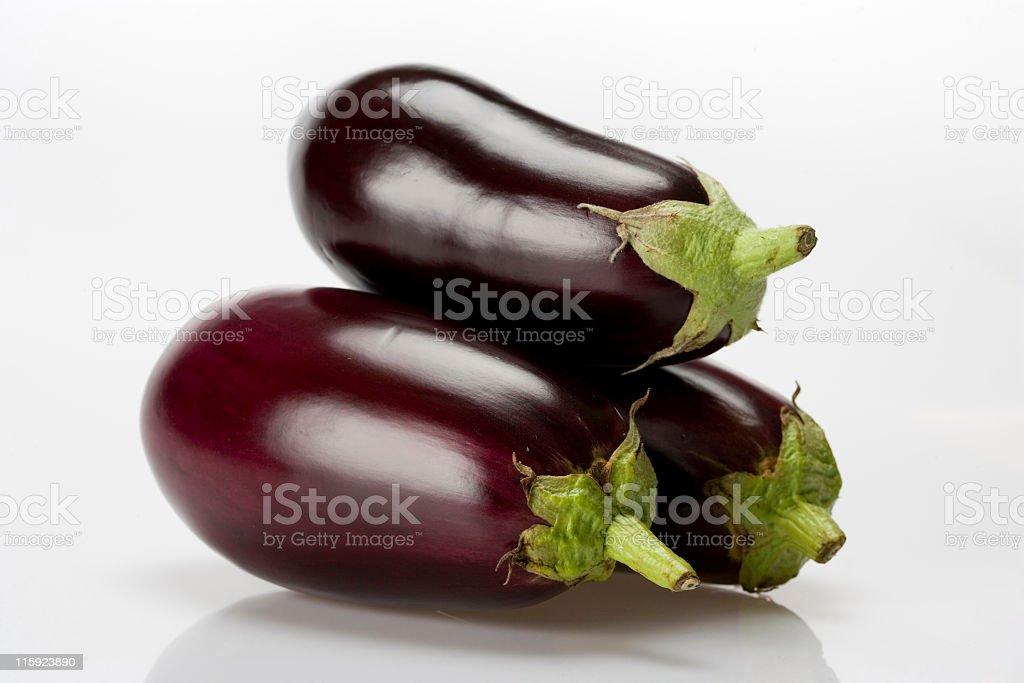 Eggplant on white background royalty-free stock photo