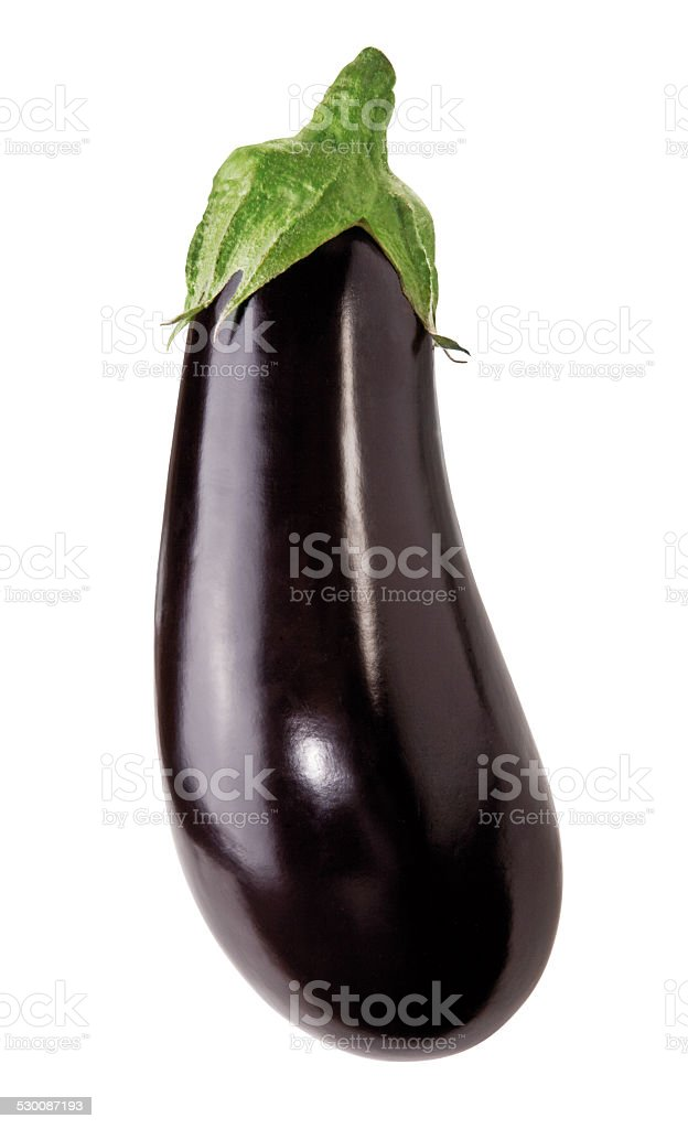 eggplant on white background stock photo