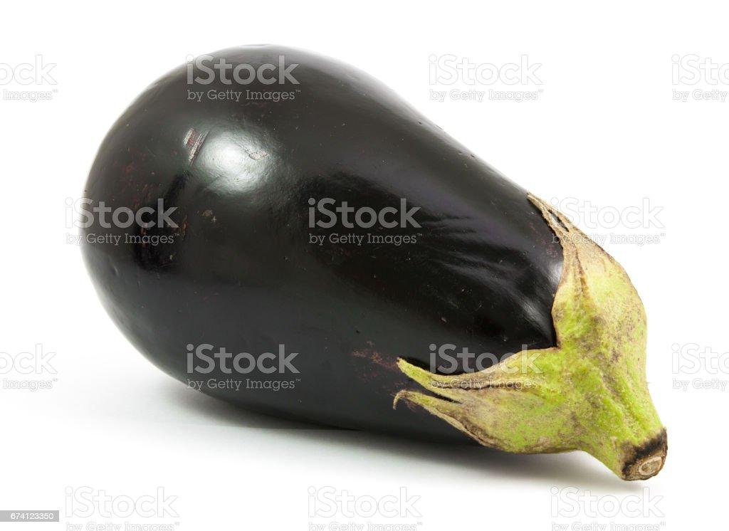 eggplant or aubergine vegetable isolated on white background 免版稅 stock photo