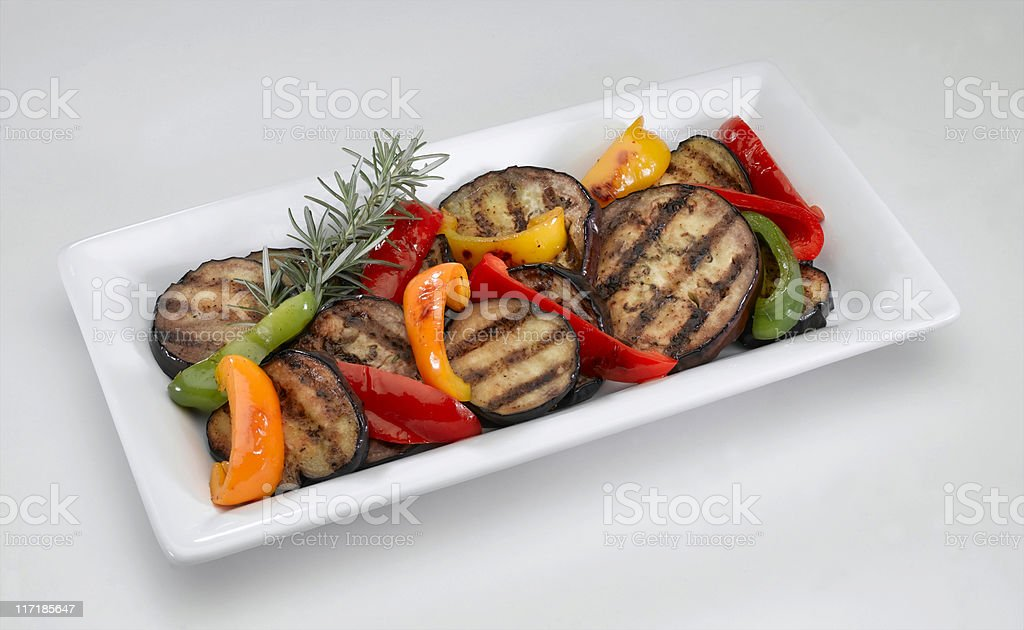 Eggplant (saute) royalty-free stock photo