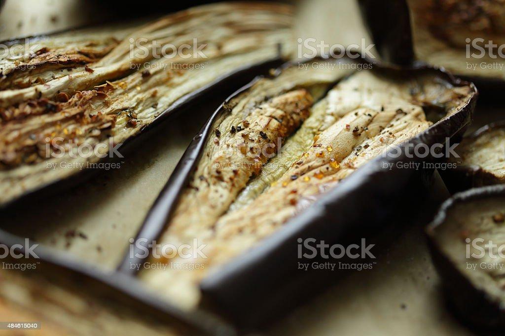 Eggplant roasted stock photo