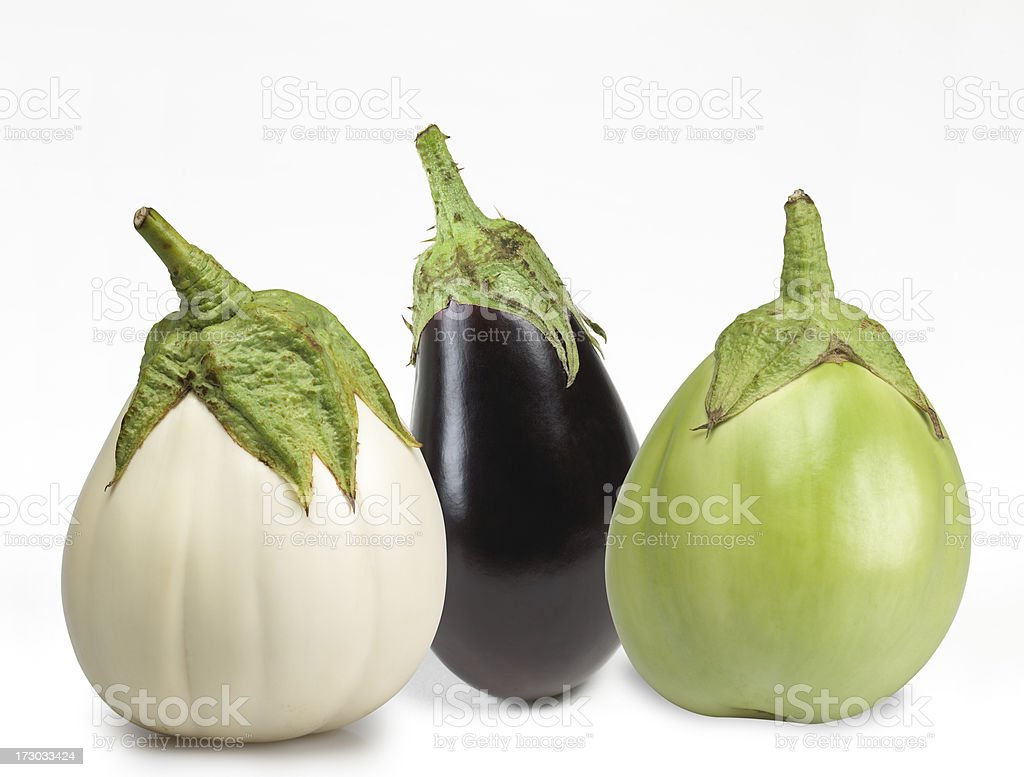 Eggplant varieties stock photo