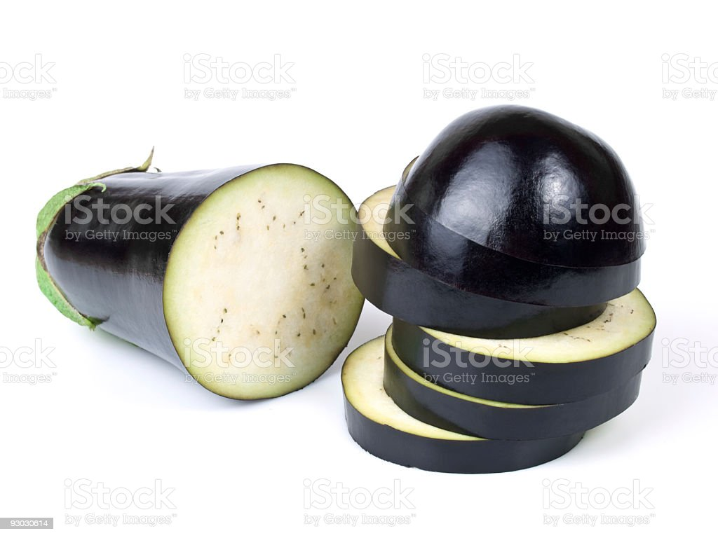 Eggplant w clipping path royalty-free stock photo