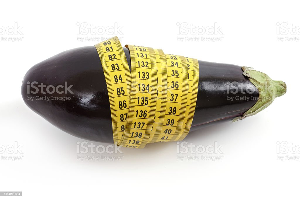 Eggplant with centimetre royalty-free stock photo