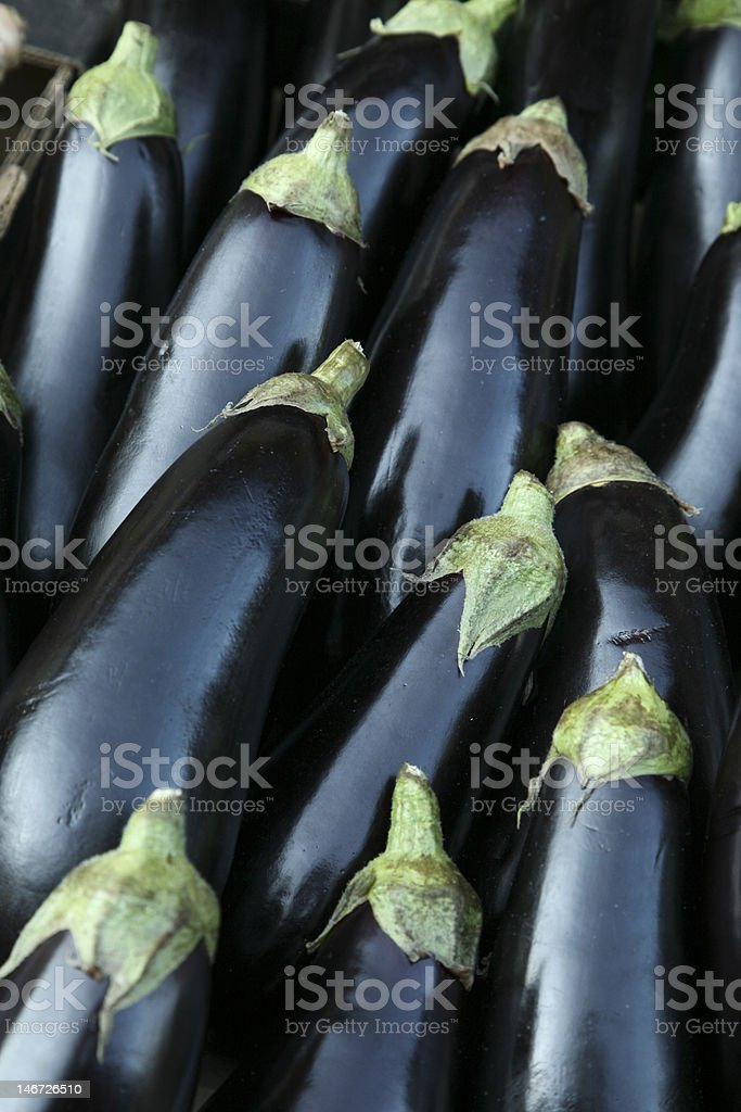 Eggplants backgrounds royalty-free stock photo