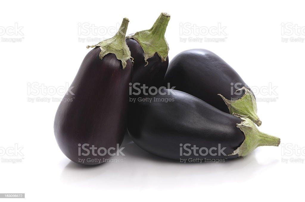 Eggplants on white background royalty-free stock photo