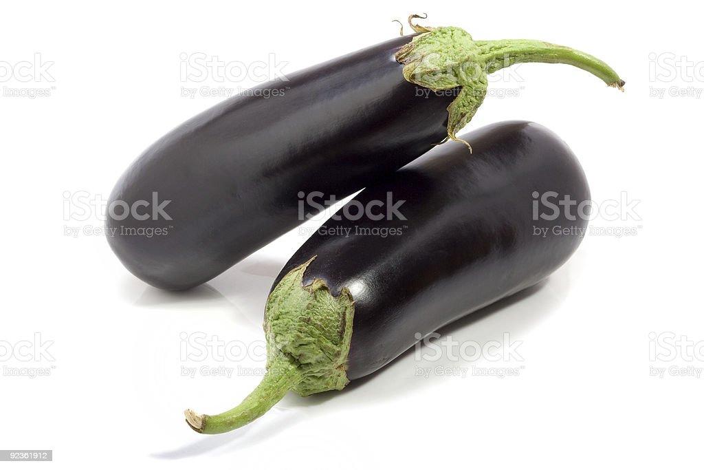 eggplants on white royalty-free stock photo