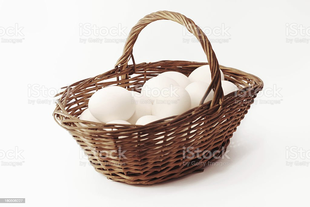 Eggs and Basket royalty-free stock photo