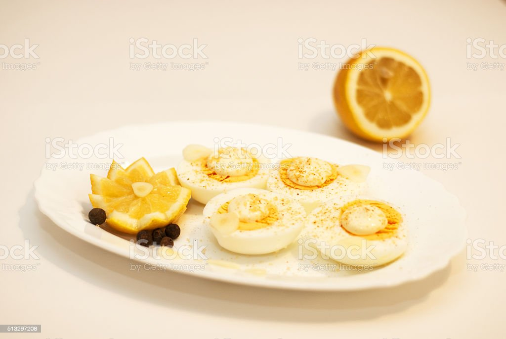 eggs and mayonnaise stock photo
