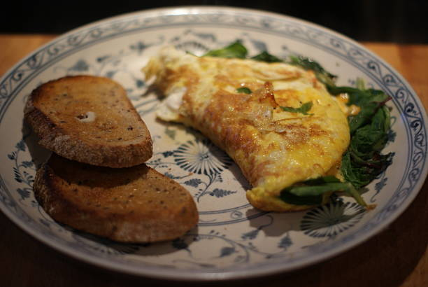 Eggs and Whole Wheat Toast stock photo