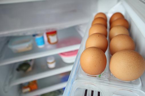 istock eggs arrange on refrigerator shelf 1070323774