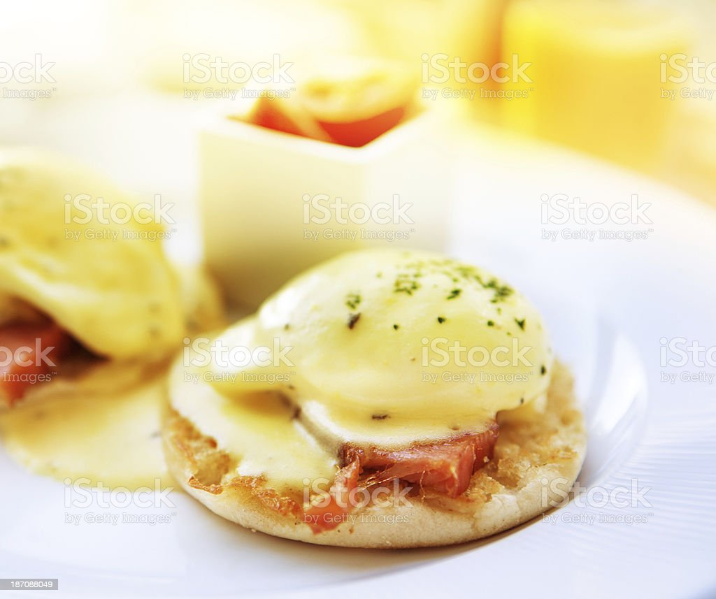 Eggs Benedict breakfast royalty-free stock photo