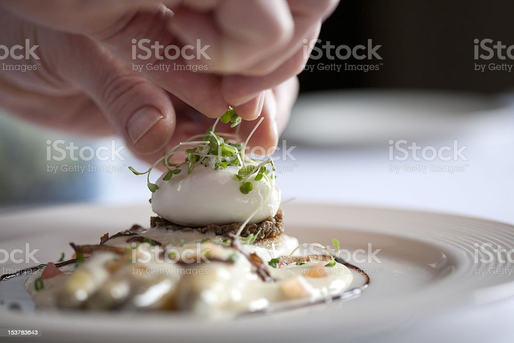 Eggs Benedict with Asparagus stock photo