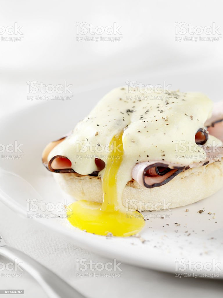 Eggs Benedict with Black Forest Ham royalty-free stock photo