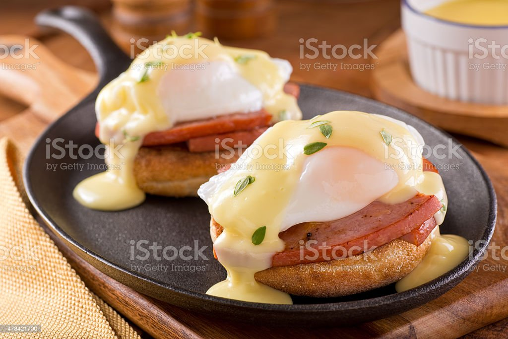 Eggs Benedict with Thick Cut Ham stock photo