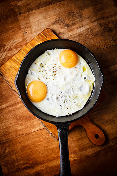 eggs breakfast - fried egg stock photos and pictures