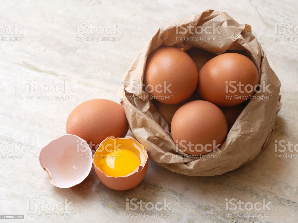 Eggs composition stock photo