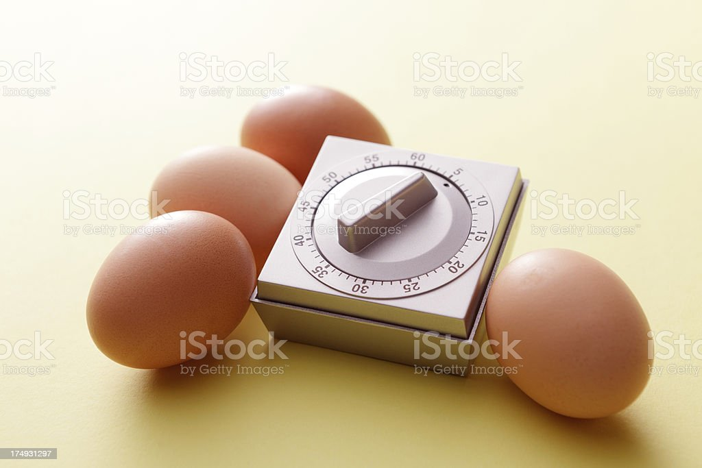 Eggs: Eggs and Timer royalty-free stock photo