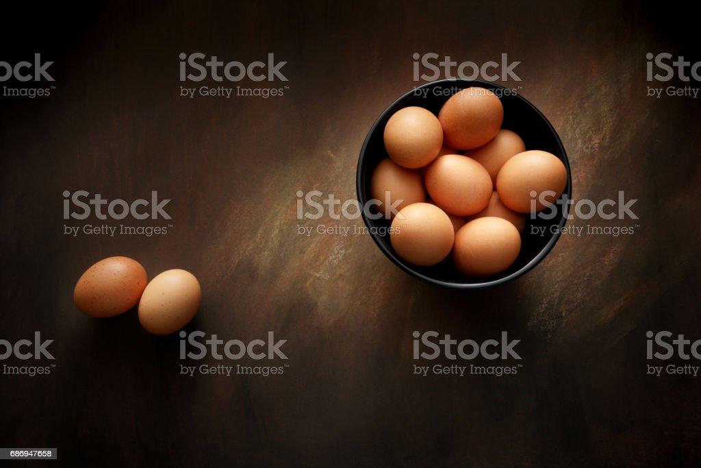 Eggs: Eggs in Bowl Still Life stock photo